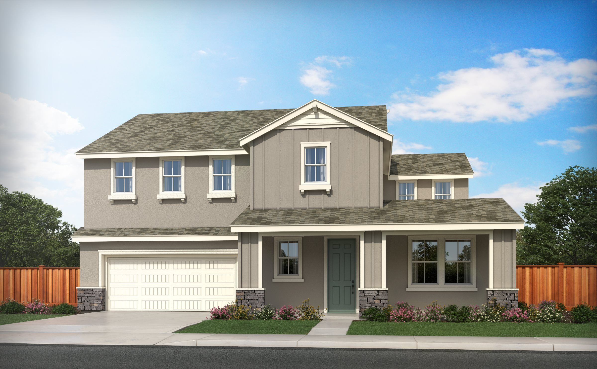 Exterior featured in the RESIDENCE TWO By Lennar in Stockton-Lodi, CA