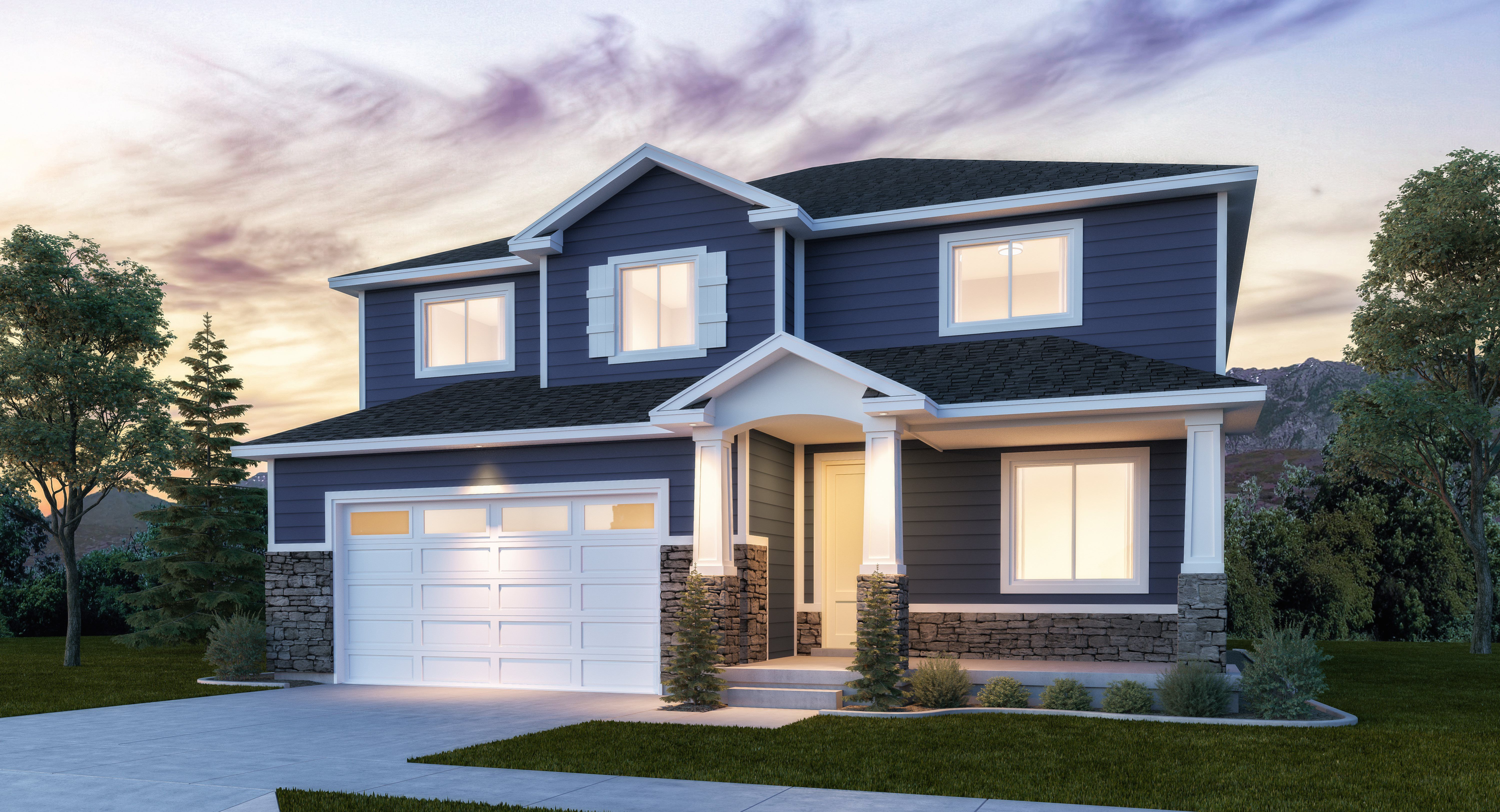 Exterior featured in the Shasta By Lennar in Salt Lake City-Ogden, UT