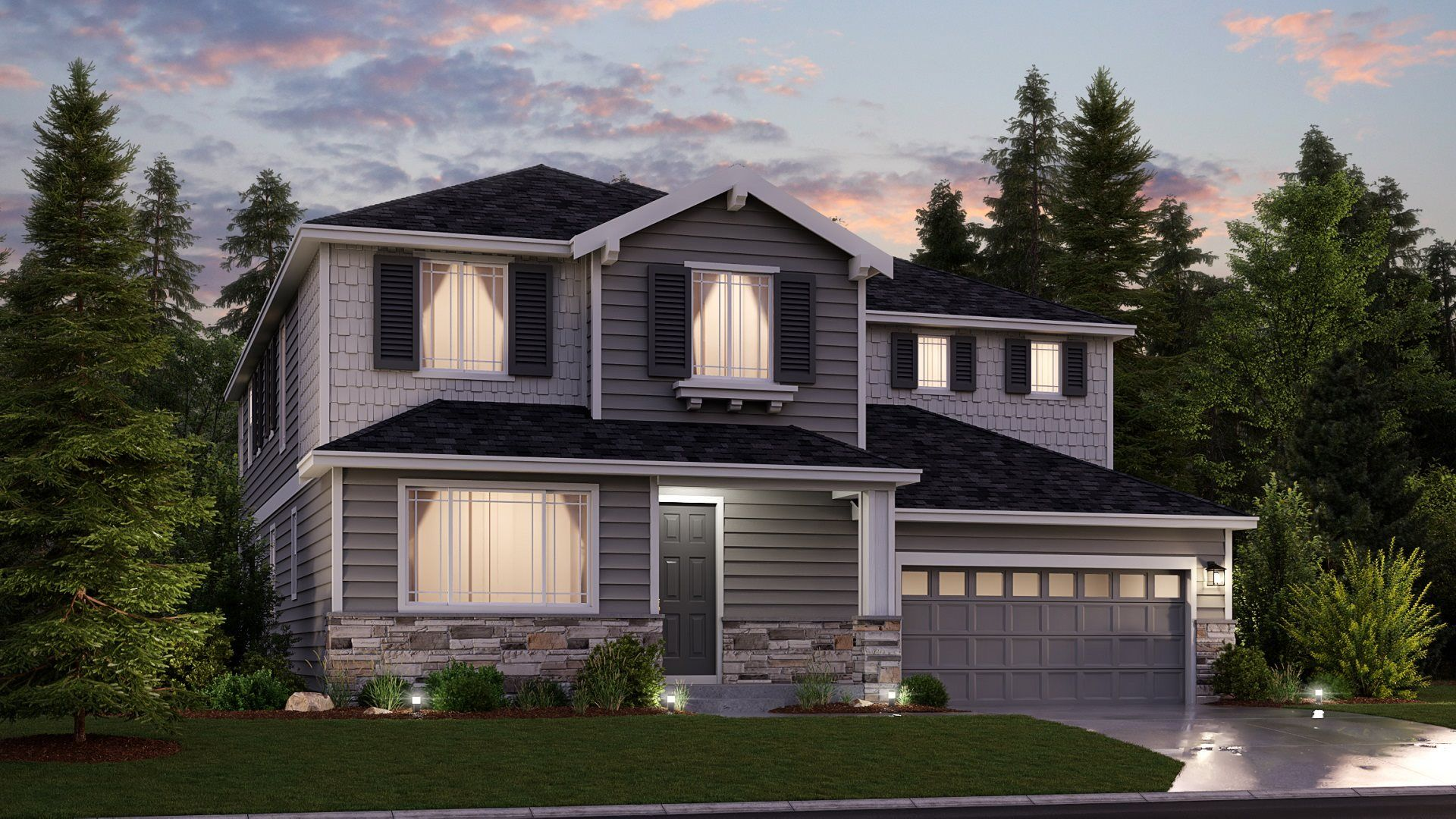 Exterior featured in the Roslyn, Village By Lennar in Seattle-Bellevue, WA