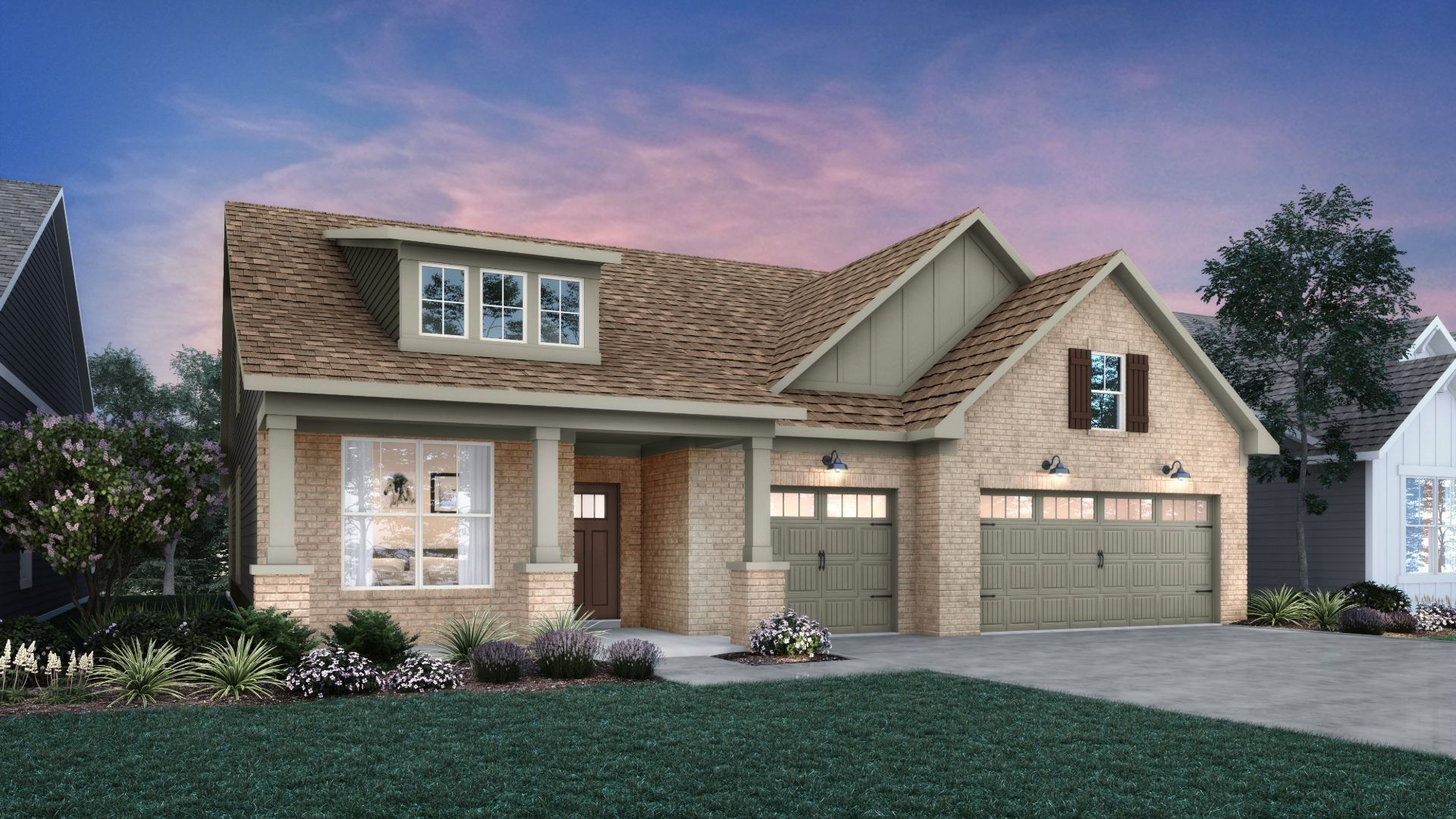 Exterior featured in the Patoka By Lennar in Indianapolis, IN