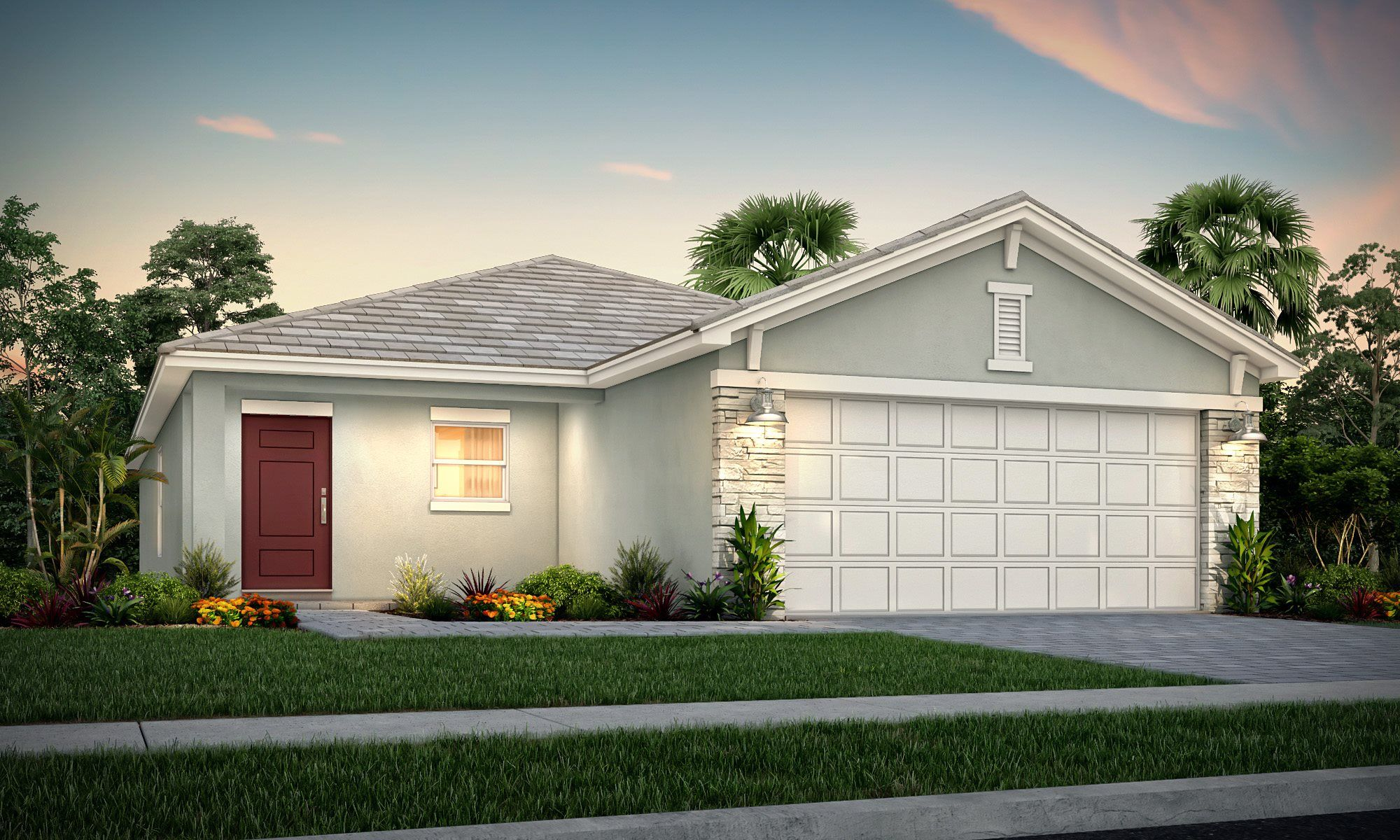 Exterior featured in the Cypress By Lennar in Palm Beach County, FL