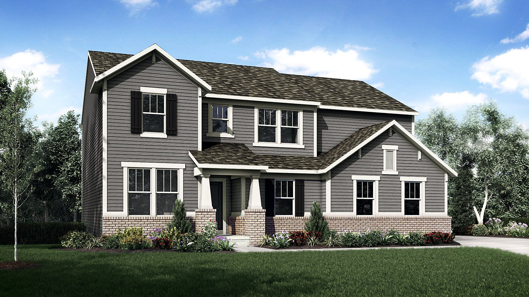 Exterior featured in the Everett By Lennar in Indianapolis, IN