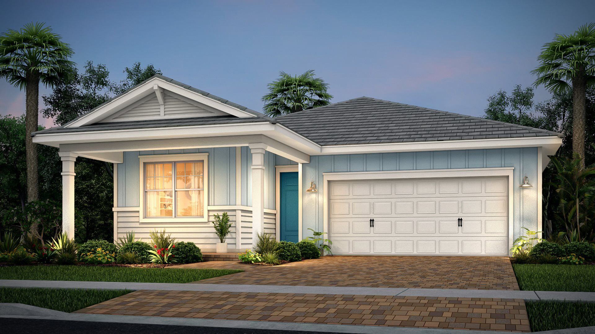Exterior featured in the Camellia By Lennar in Palm Beach County, FL