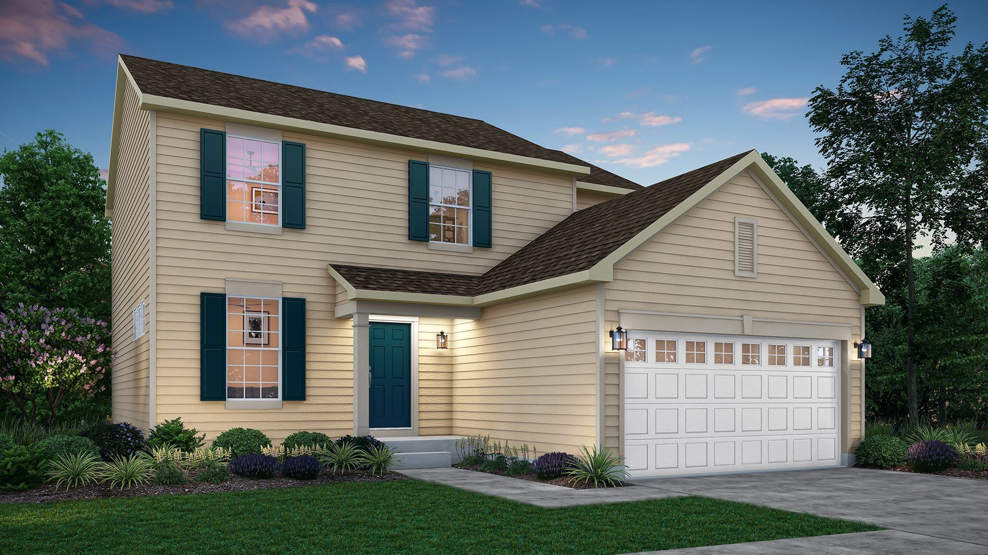 Exterior featured in the Ontario ei By Lennar in Gary, IN