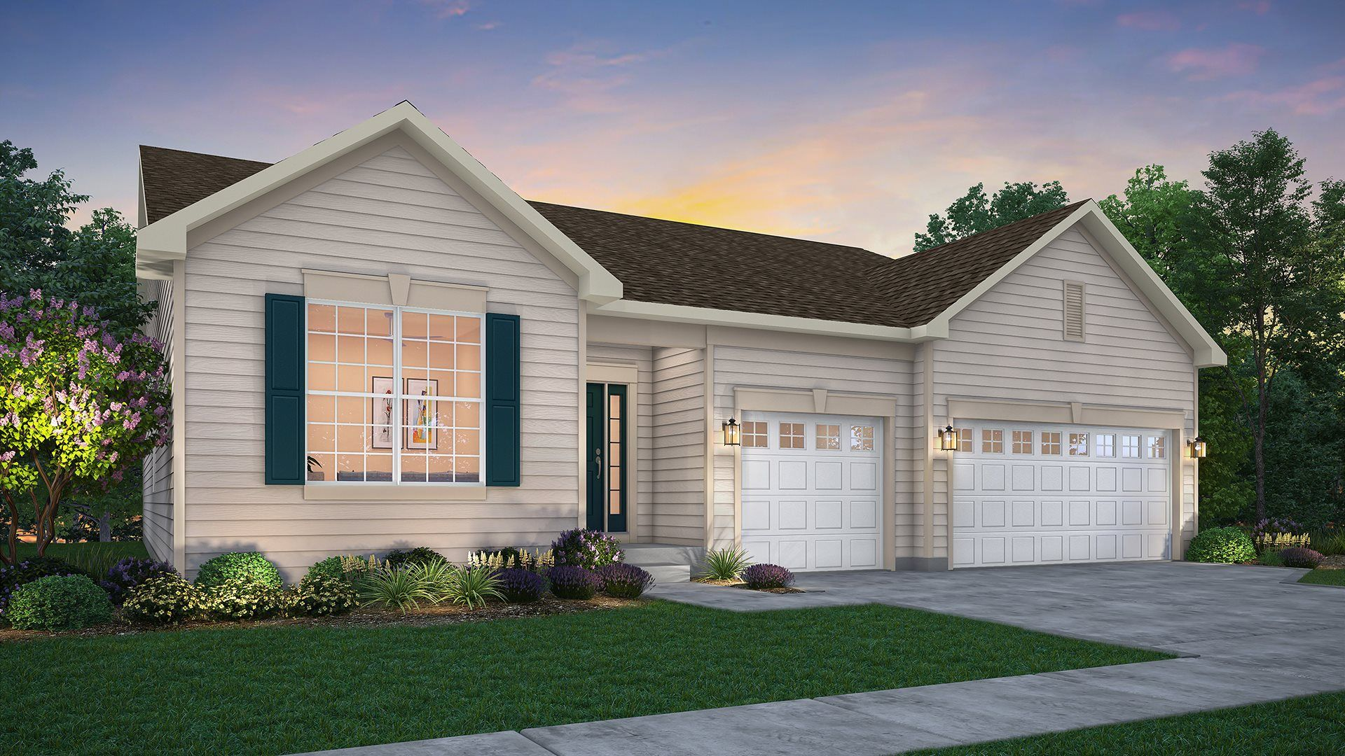 Exterior featured in the Ridgefield ei By Lennar in Gary, IN