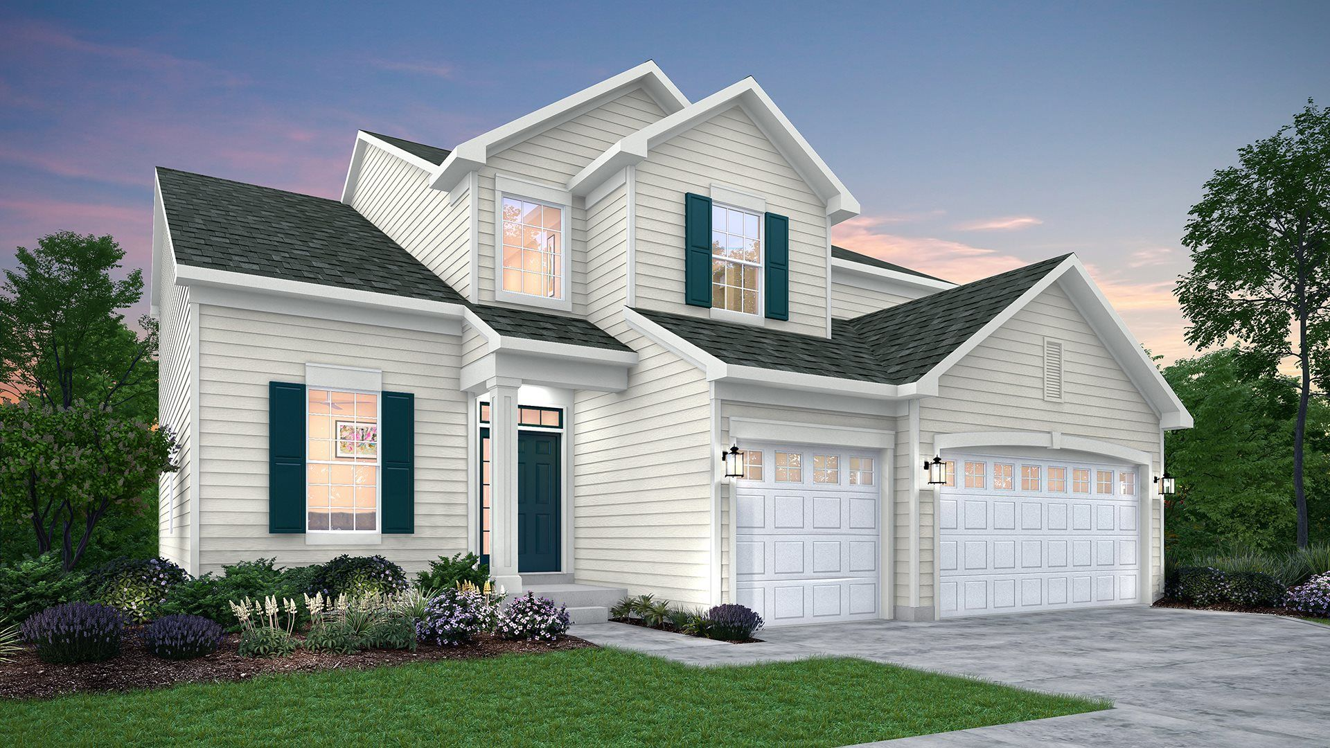 Exterior featured in the Galveston ei By Lennar in Gary, IN