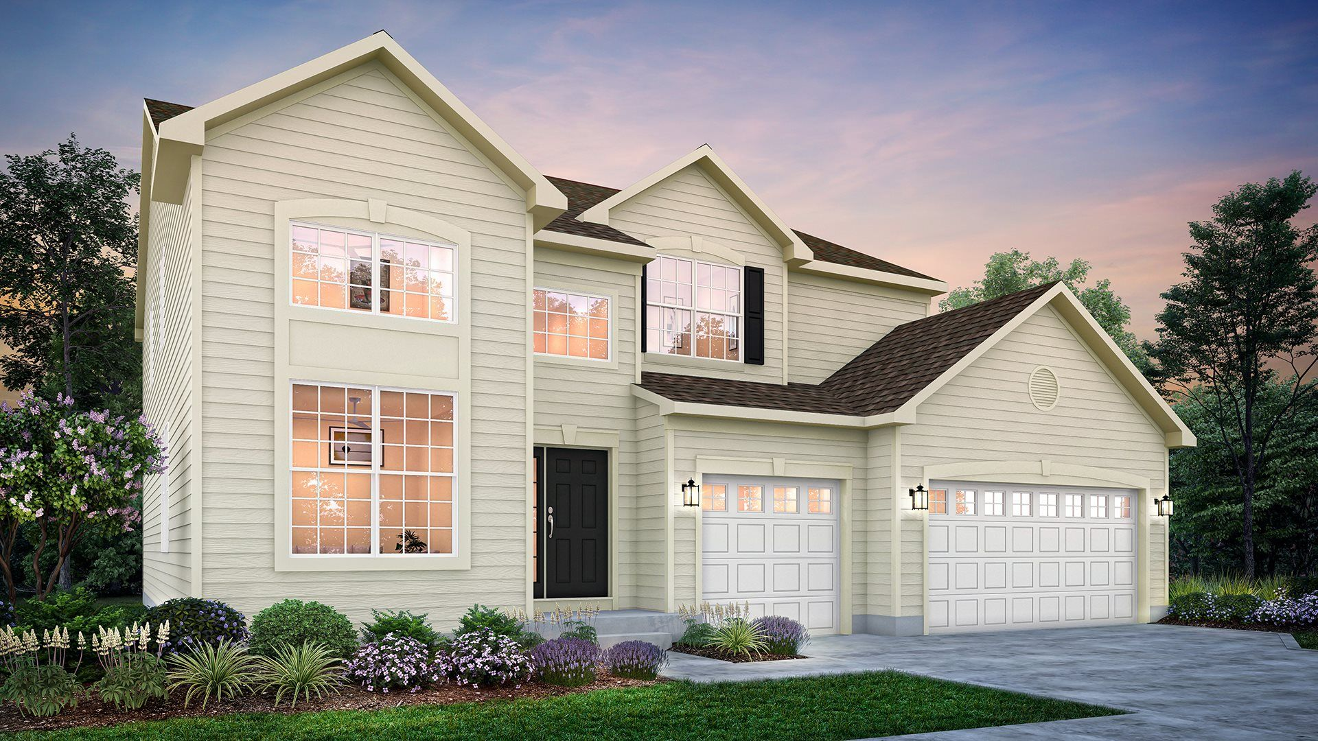 Exterior featured in the Raleigh ei By Lennar in Gary, IN