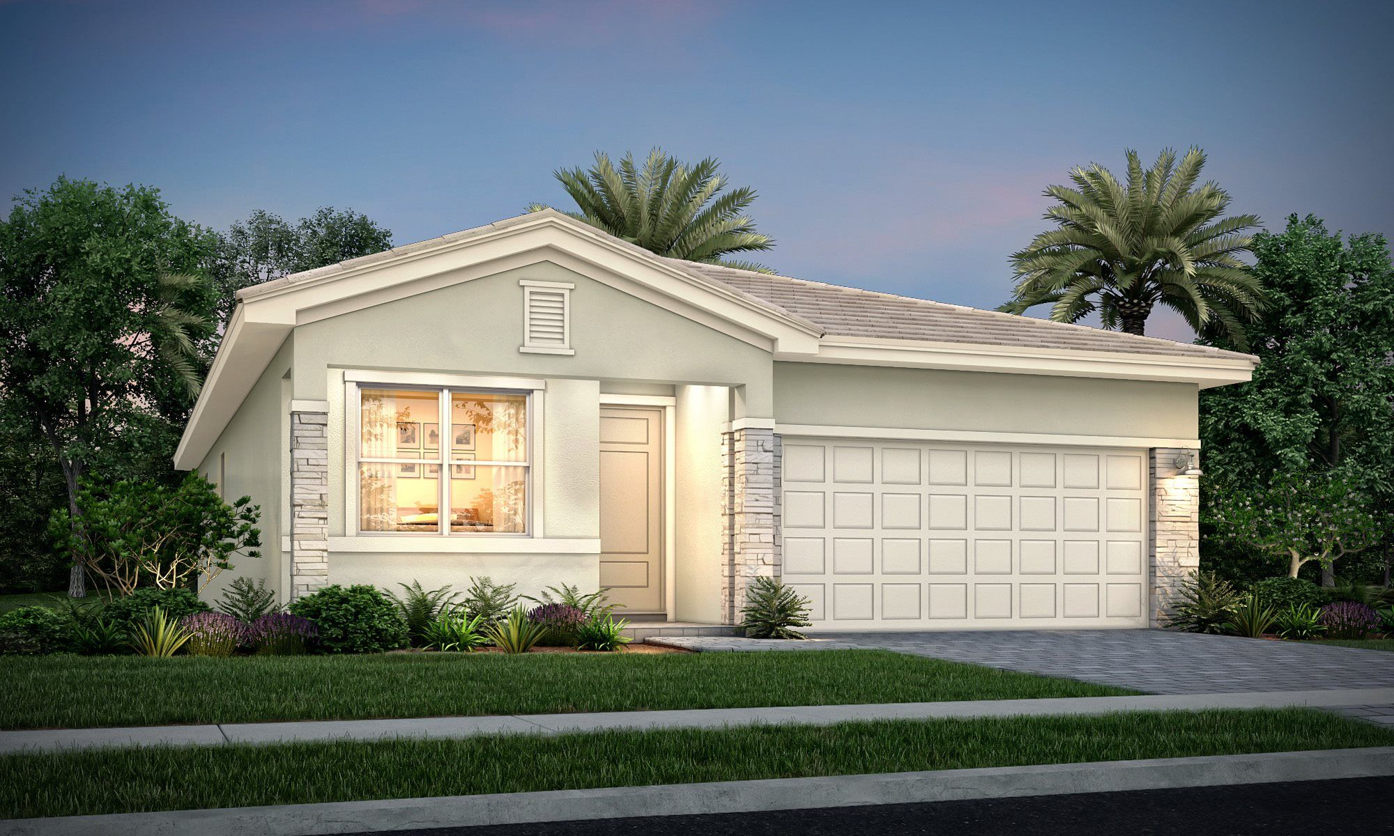 Exterior featured in the Jacaranda By Lennar in Palm Beach County, FL