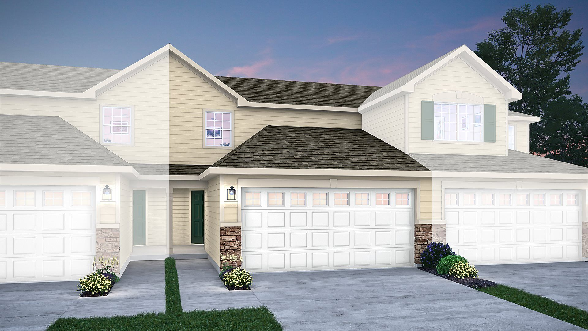 Exterior featured in the Beverly ei By Lennar in Gary, IN