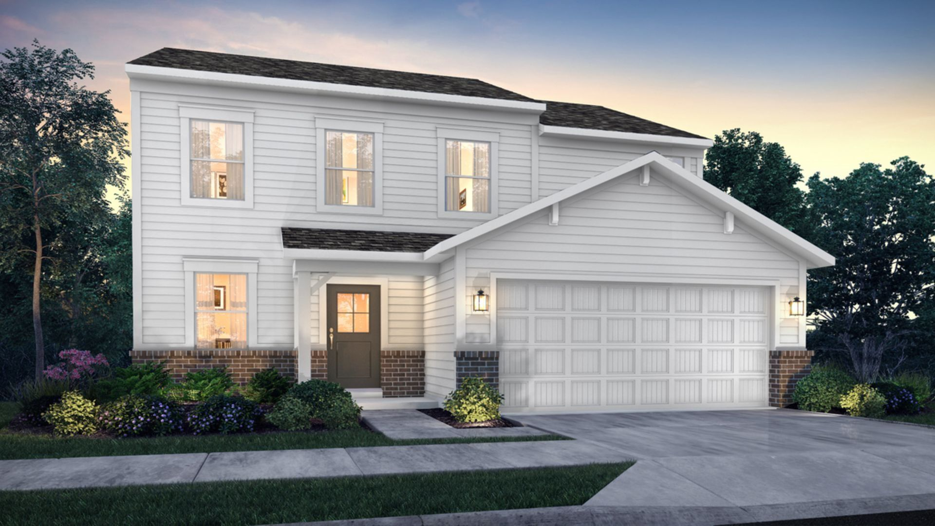 Exterior featured in the Belmont By Lennar in Indianapolis, IN