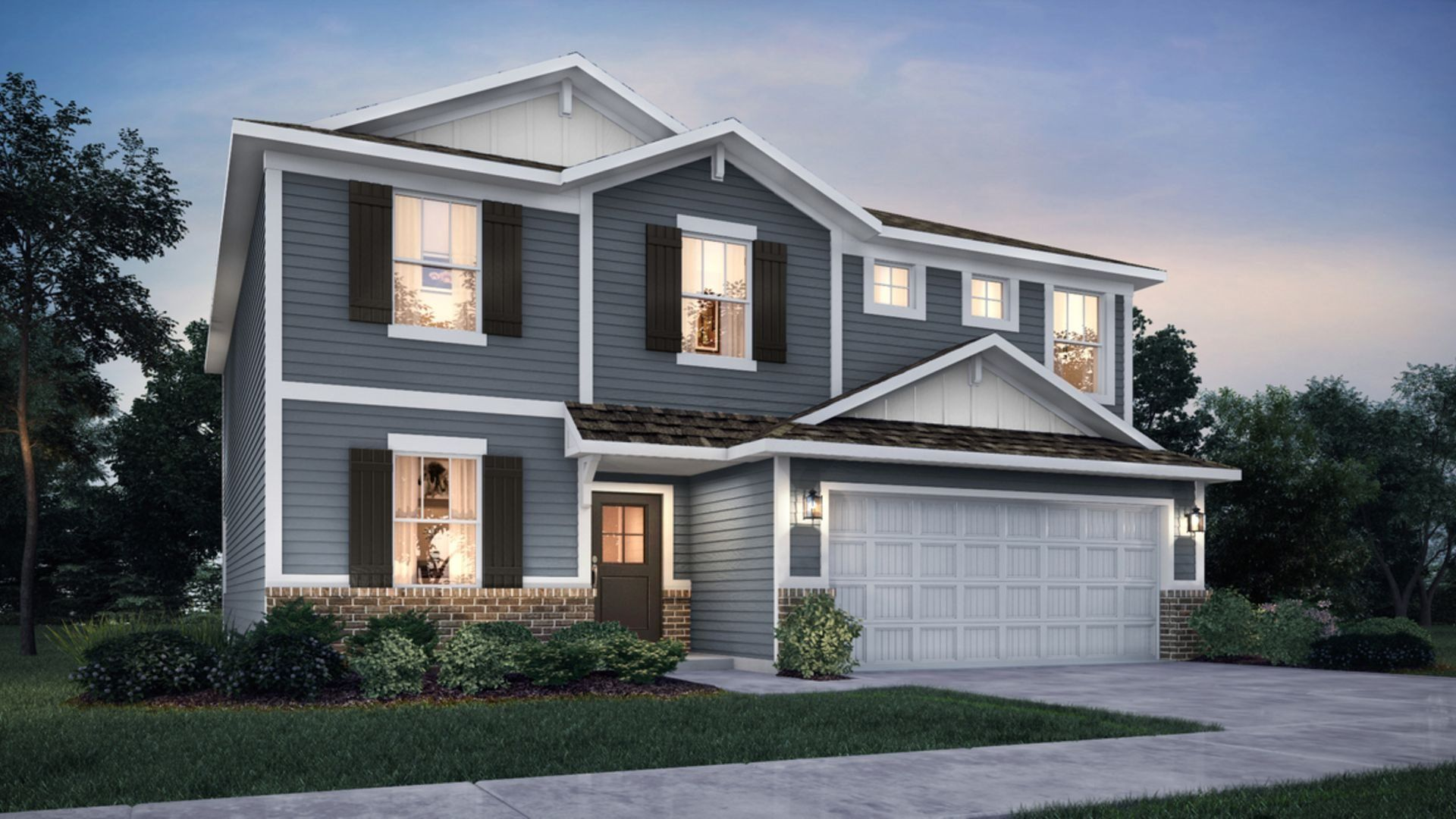 Exterior featured in the Hampshire By Lennar in Indianapolis, IN
