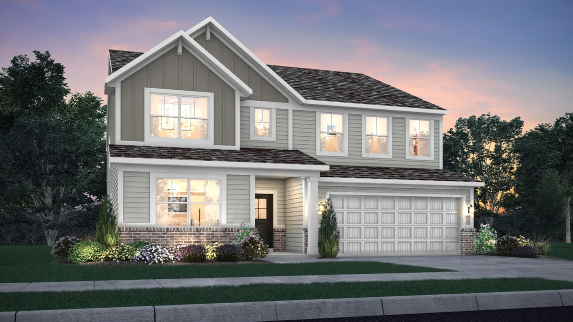 Exterior featured in the Valencia By Lennar in Indianapolis, IN