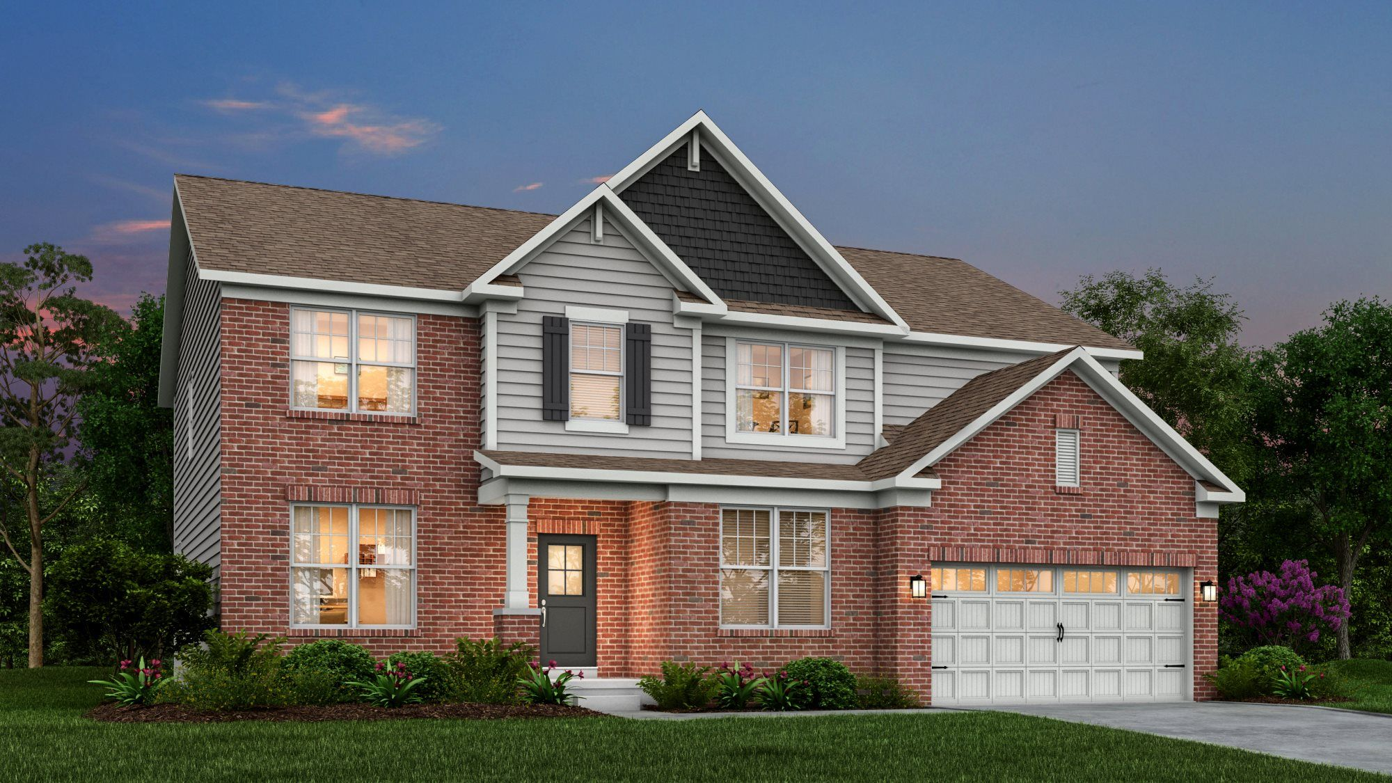 Exterior featured in the Oxford By Lennar in Indianapolis, IN