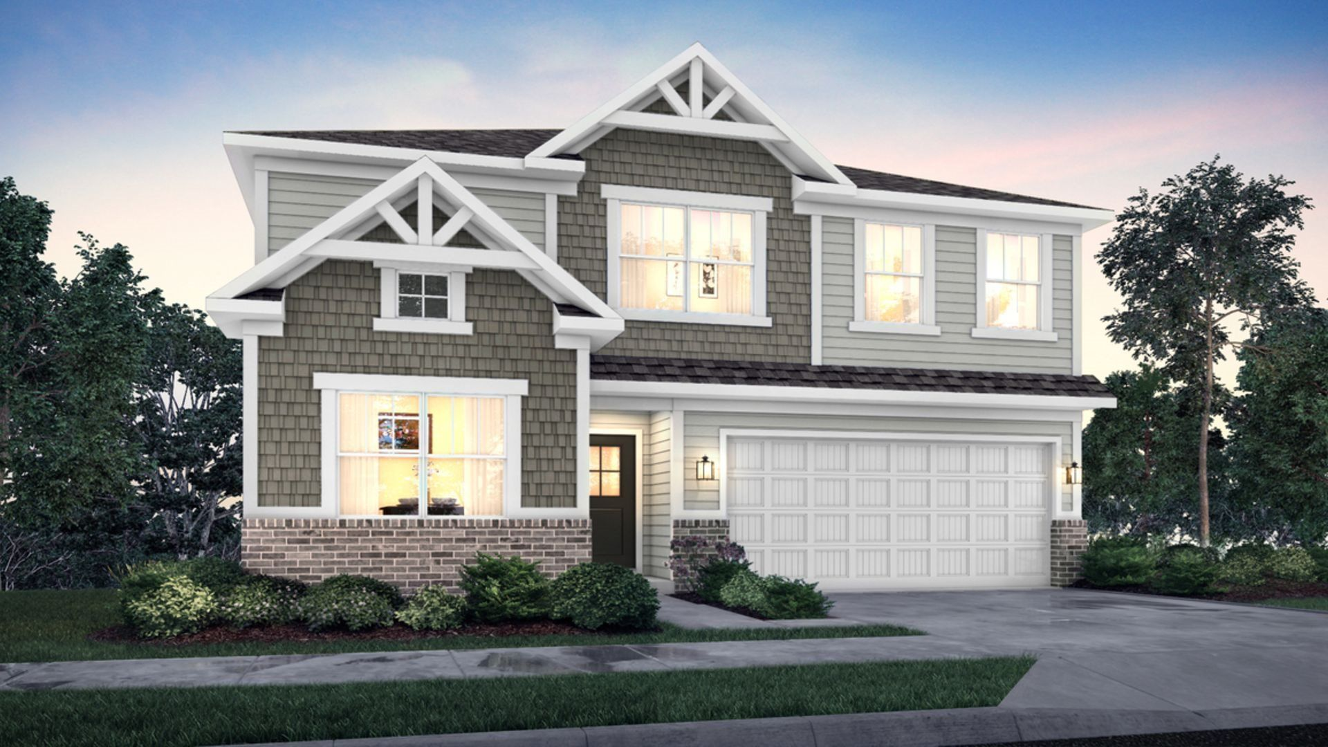 Exterior featured in the Kingston By Lennar in Indianapolis, IN