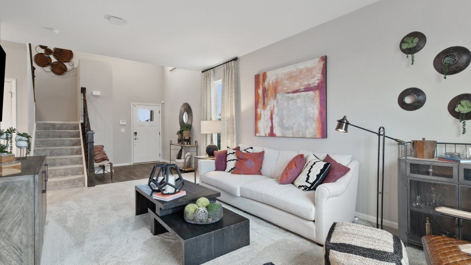 Living Area featured in the Dunham II By Lennar in Gary, IN