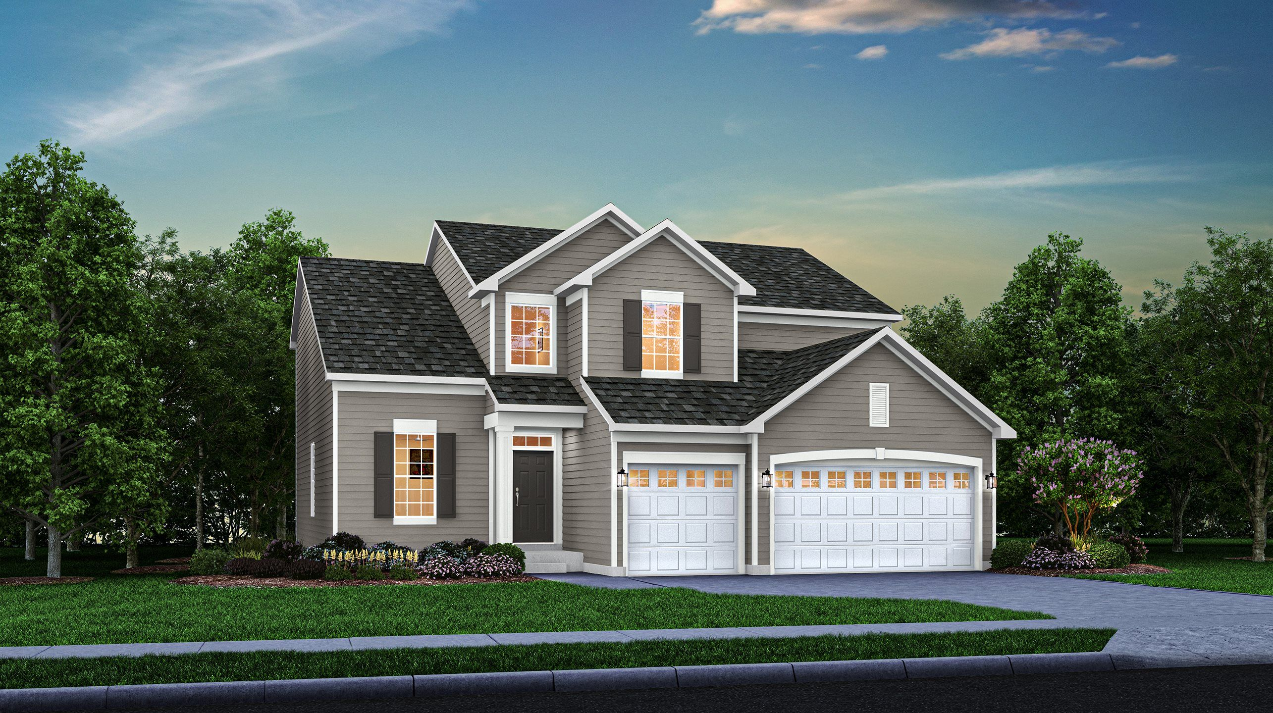 Exterior featured in the Galveston By Lennar in Gary, IN