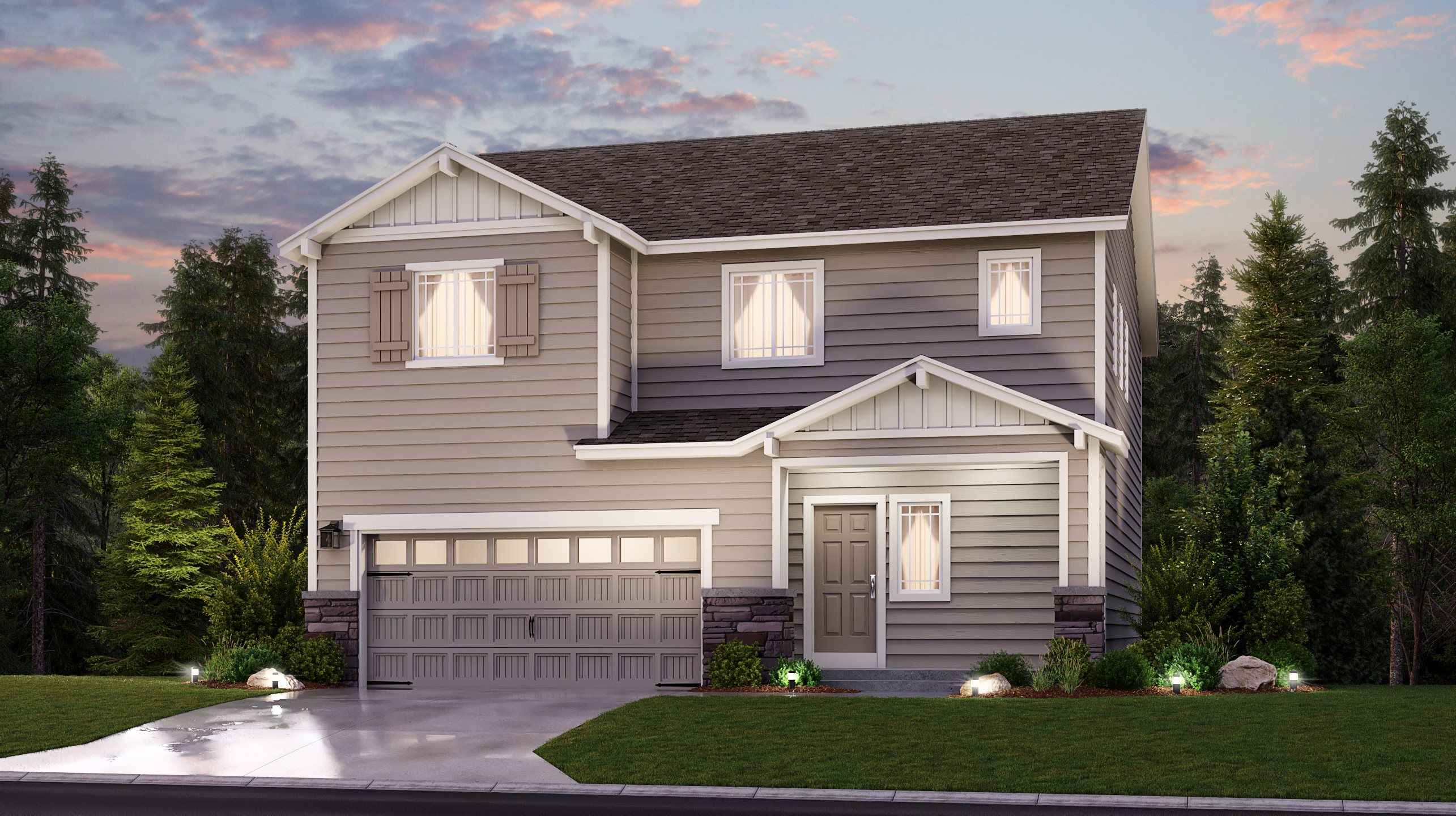 Exterior featured in the Monarch By Lennar in Seattle-Bellevue, WA