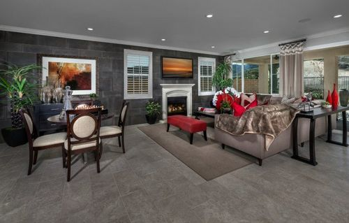 Greatroom-and-Dining-in-Residence Four-at-The Woodlands - Arbor Heights-in-Simi Valley