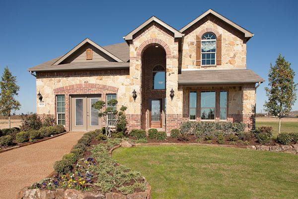 Beautiful Stone & Brick Elevation!:To view this Alabaster model visit our Artesia Community in Prosper,TX