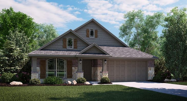 Onyx 3723 D Elevation with brick and stone