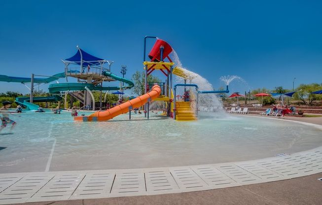 Splash park and water slides