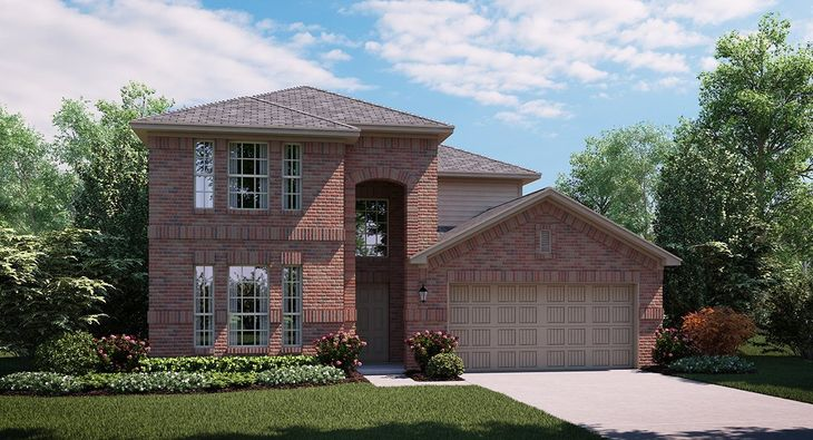 Hibiscus A Elevation with brick