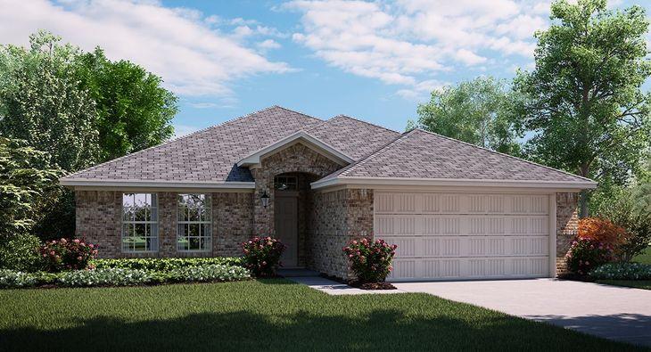 Rosebud 3833 A elevation with brick