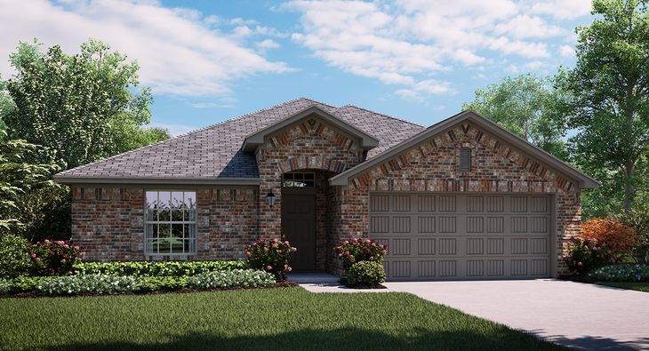 Violet 3843 A elevation with brick