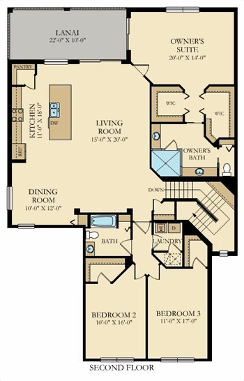 Brandywine Plan At Gran Paradiso Coach Homes In Venice Fl By Lennar