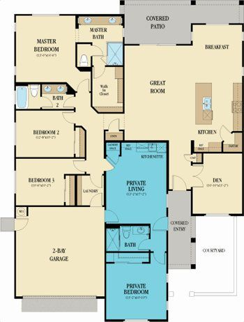 Lennar multigenerational homes floor plans house design for Multigenerational home designs