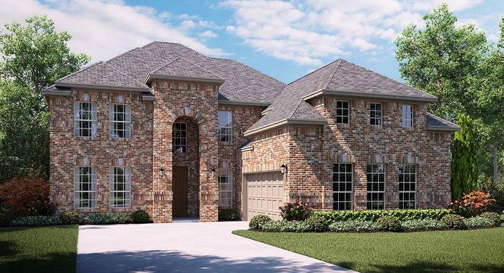 Sedona A Elevation with brick