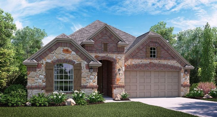 Buchanan C Elevation with brick and stone