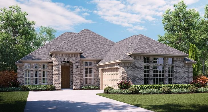 McKinely 5021 A Elevation with brick