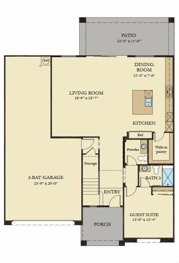 Residence Three Plan Floor1