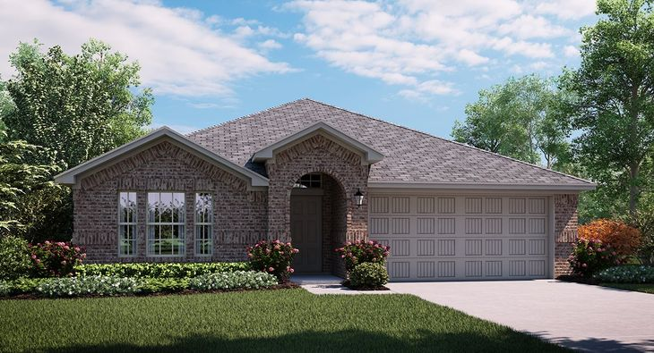 Bluebonnet 3853 A elevation with brick