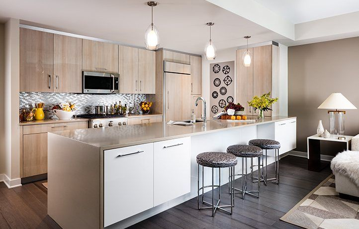 Kitchen-in-Residence 712-at-The Avenue Collection - 1200 Avenue-in-Weehawken