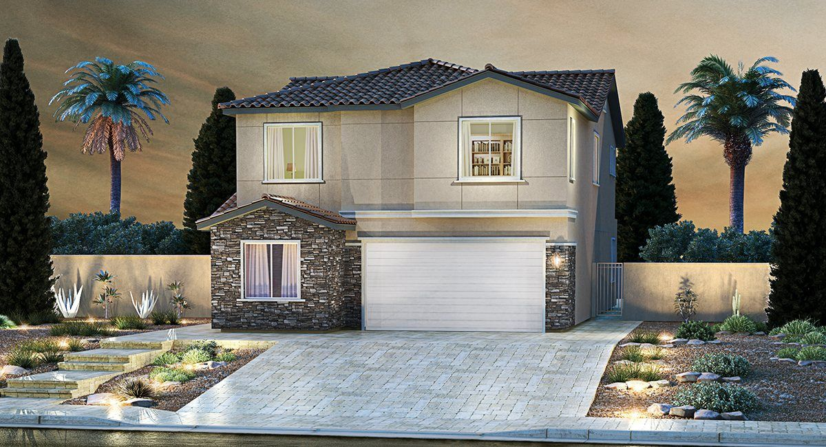 Rose Ridge Lavender Series In Henderson Nv New Homes
