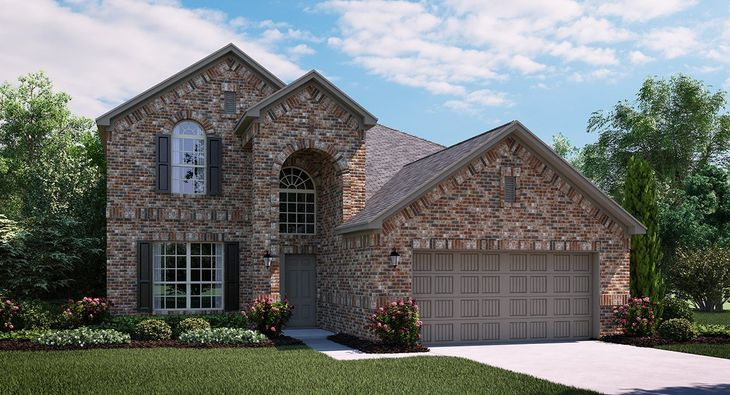 Terrazzo 3753 A Elevation with brick