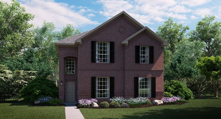 Pearl B elevation with brick