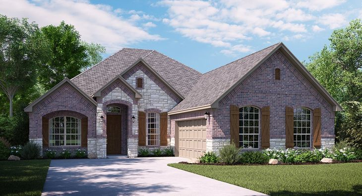 McKinely 5021 C Elevation with brick and stone