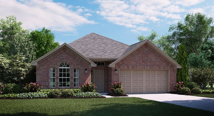 Spruce A Elevation with brick