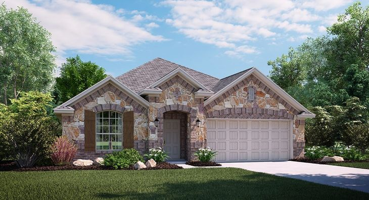 Onyx C Elevation with brick and stone