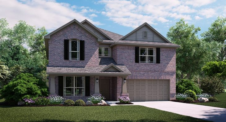 Willow II B Elevation with brick