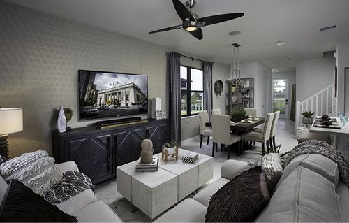 Greatroom-and-Dining-in-Bonsai-at-Satori - Lotus Collection-in-Miami Lakes