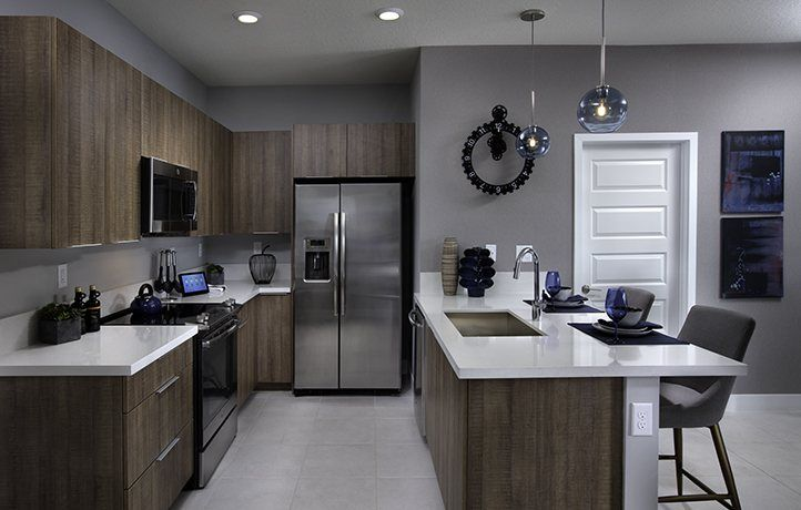Kitchen-in-MODEL CA-at-Urbana - 2-Story Townhomes-in-Doral