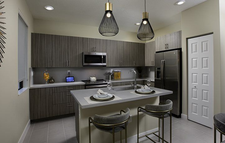 Kitchen-in-MODEL CC-at-Urbana - 2-Story Townhomes-in-Doral