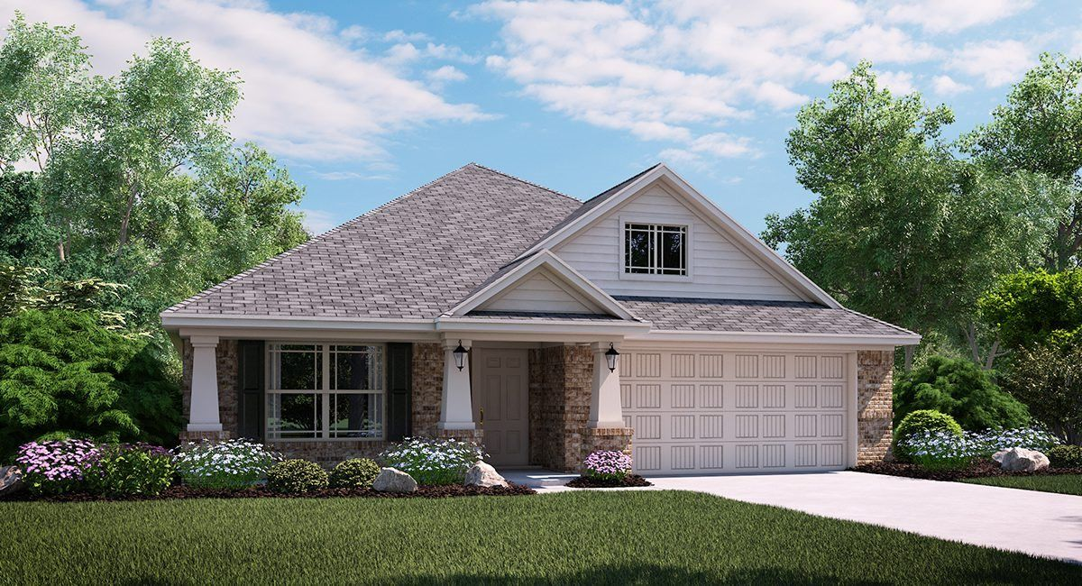 Onyx 3723 B Elevation with brick