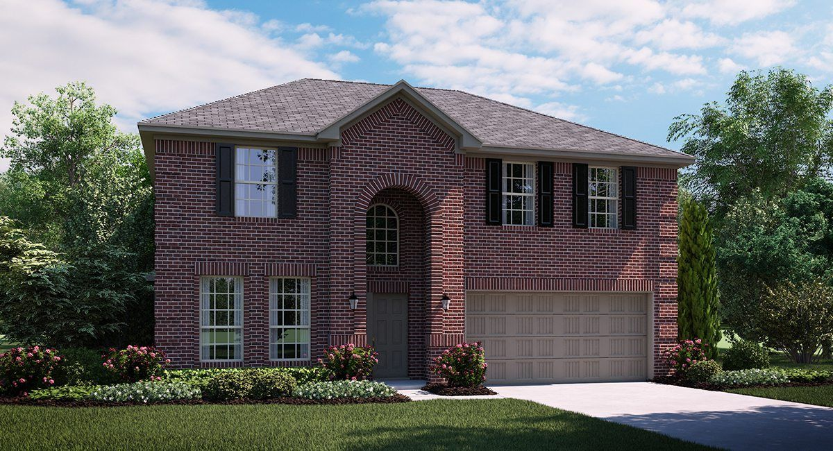 Obsidian 3743 A Elevation with brick