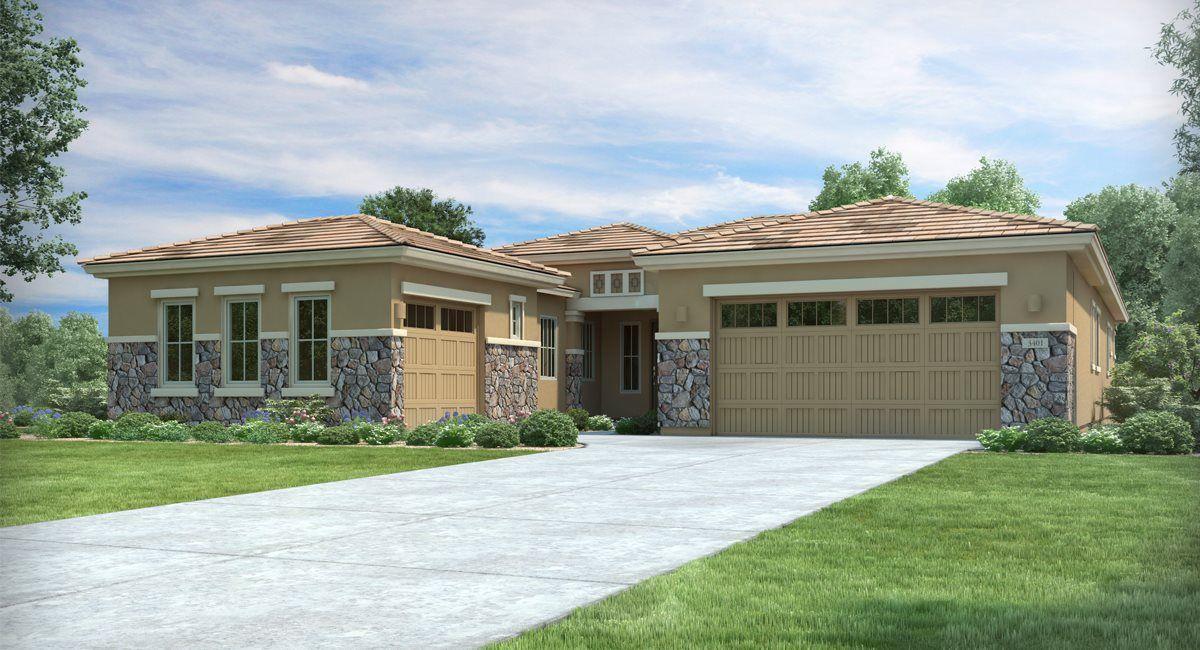 Exterior featured in the Aurora Plan 5580 By Lennar in Phoenix-Mesa, AZ