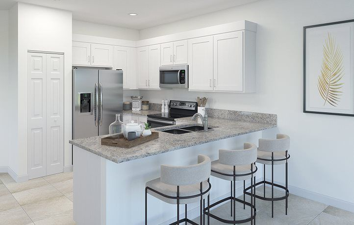 Kitchen featured in the Gavelston By Lennar in Miami-Dade County, FL